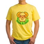 I love mom and dad Yellow T-Shirt