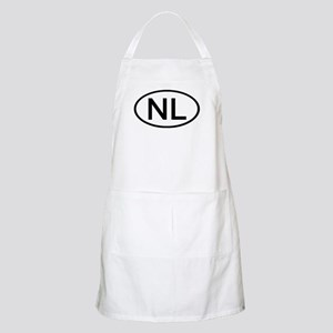 NL - Initial Oval BBQ Apron
