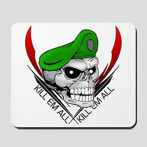Green Beret Skull Mousepad