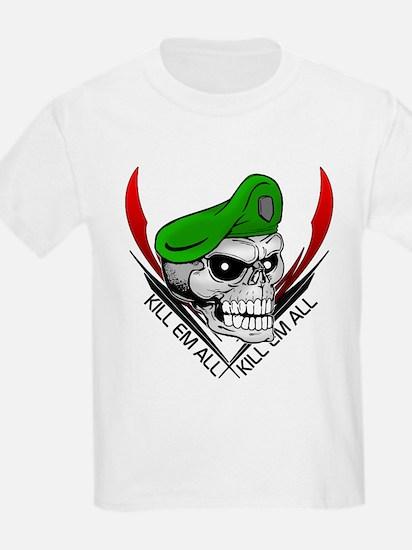Green Beret Skull Kids T-Shirt