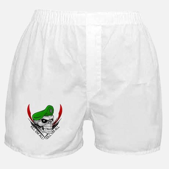 Green Beret Skull Boxer Shorts
