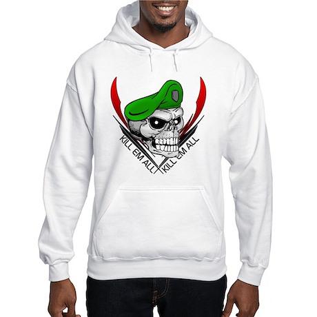 Green Beret Skull Hooded Sweatshirt