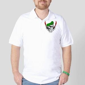 Green Beret Skull Golf Shirt