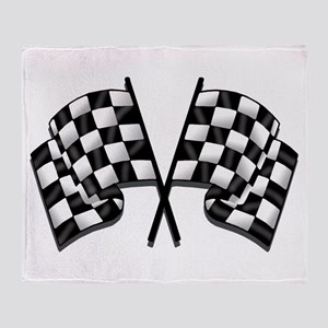 Chequered Flag Throw Blanket