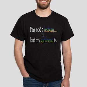 """""""I'm not a lesbian...but my g Black T-Shirt"""