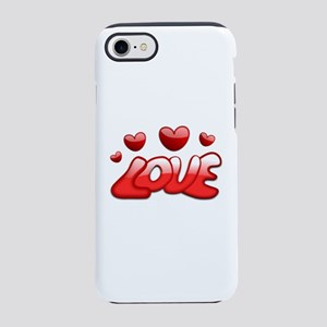 Love Hearts Valentines Day Rom iPhone 7 Tough Case
