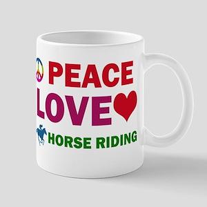 Peace Love Horse riding Mugs
