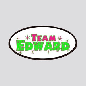 Team Edward pink green Patches