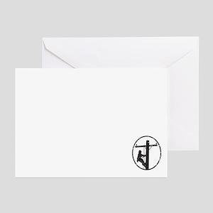 Lineman Greeting Cards (pk Of 10)