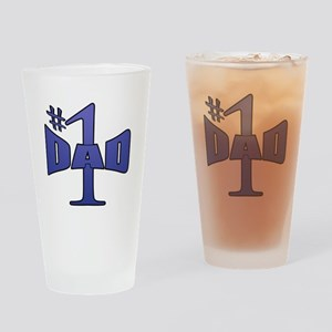 Number one dad Drinking Glass