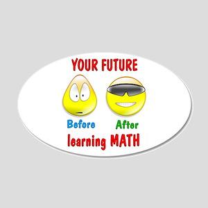 Math Future 22x14 Oval Wall Peel