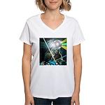 Howling Wolves Sweatshirt Women's V-Neck T-Shirt