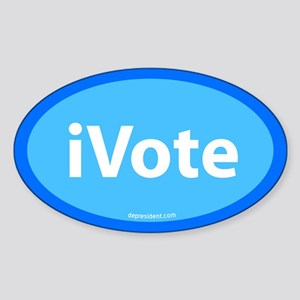 iVote Blue Oval Sticker