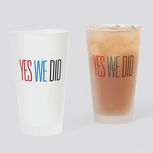 Obama Yes We Did Pint Glass