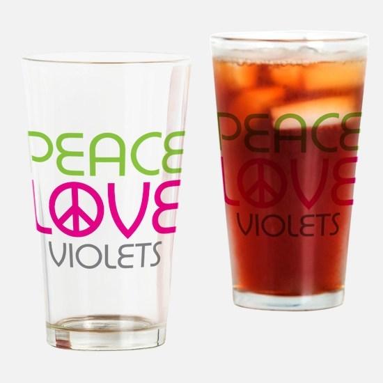 Peace Love Violets Pint Glass
