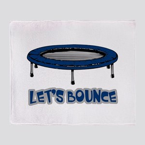 Let's Bounce Trampoline Throw Blanket
