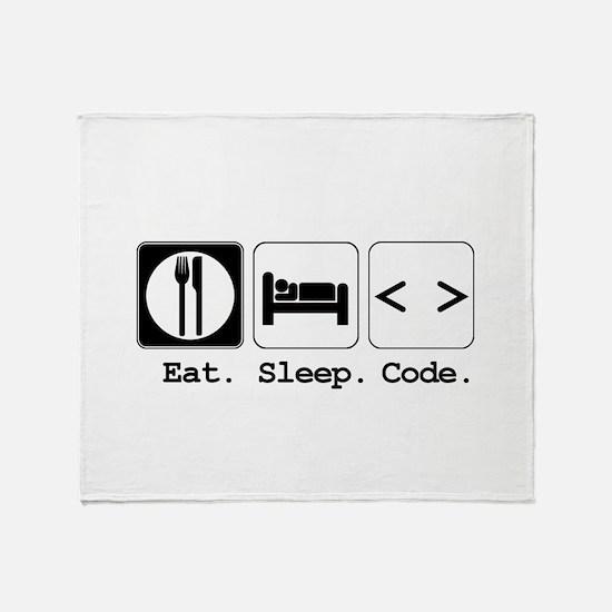 Eat. Sleep. Code. Throw Blanket