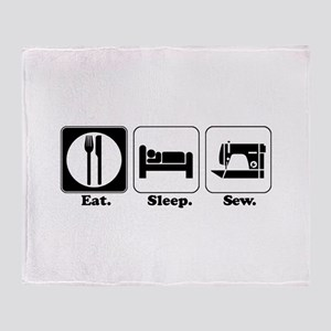 Eat. Sleep. Sew. Throw Blanket