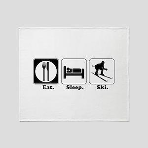 Eat. Sleep. Ski. Throw Blanket