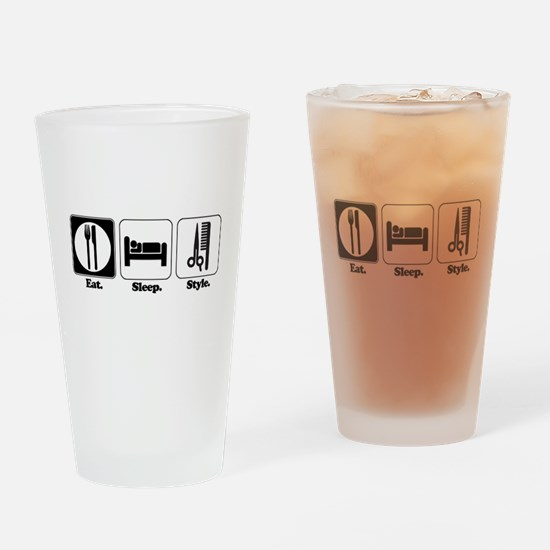 Eat. Sleep. Style. (Hair) Pint Glass