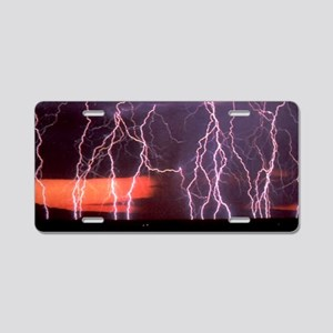 Lightning 1 Aluminum License Plate