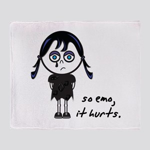 So Emo, It Hurts (Emo Girl) Throw Blanket