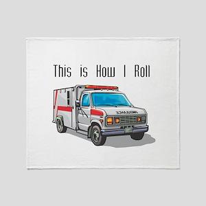 How I Roll (Ambulance) Throw Blanket