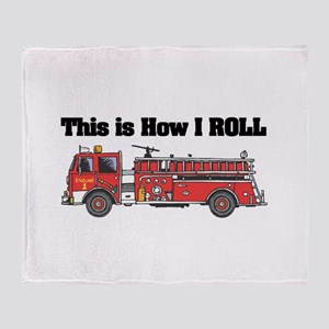 How I Roll (Fire Engine/Truck Throw Blanket