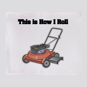 How I Roll (Lawn Mower) Throw Blanket