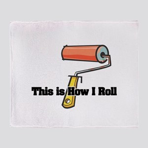 How I Roll (Paint Roller) Throw Blanket