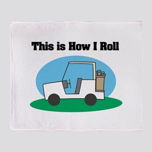 How I Roll (Golf Cart) Throw Blanket