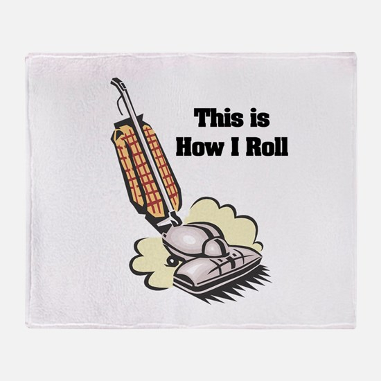 How I Roll (Vacuum Cleaner) Throw Blanket
