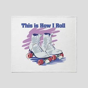 How I Roll (Roller Skates) Throw Blanket