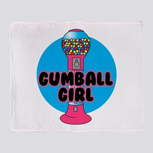 Gumball Girl Throw Blanket