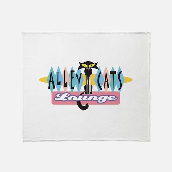 Retro Alley Cats Lounge Desig Throw Blanket