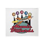 Retro Atomic Billiards Pool H Throw Blanket