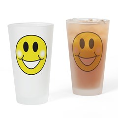 Retro-Style Smiley Face Pint Glass