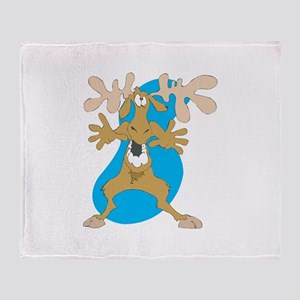 Silly Moose Throw Blanket