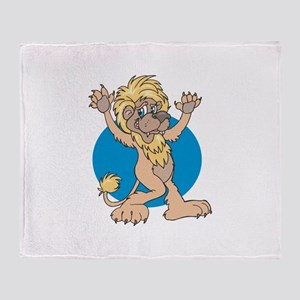 Dancing Lion Throw Blanket
