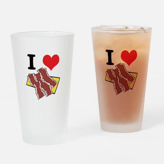 I Heart (Love) Bacon Pint Glass