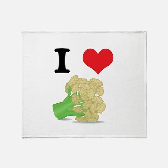I Heart (Love) Cauliflower Throw Blanket