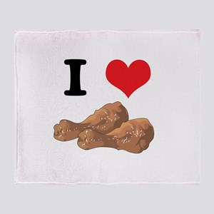 I Heart (Love) Chicken (Drums Throw Blanket