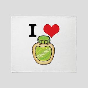 I Heart (Love) Mayonnaise (Ma Throw Blanket