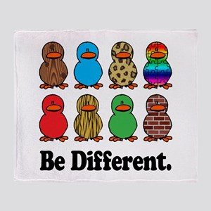 Be Different Ducks Throw Blanket