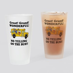 NO YELLING ON THE BUS Pint Glass