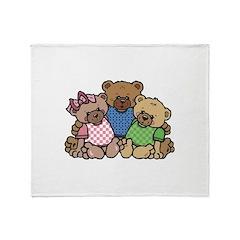 Cute Country Bear Family Throw Blanket