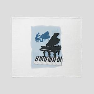 Pianist Design Throw Blanket