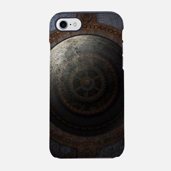 Steampunk Moon Clock Time Meta iPhone 7 Tough Case