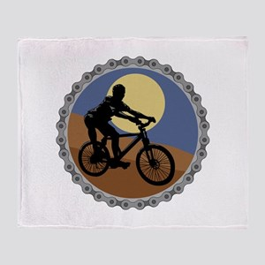 Mountain Bike Chain Design Throw Blanket