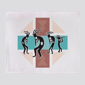 Kokopelli Design Throw Blanket